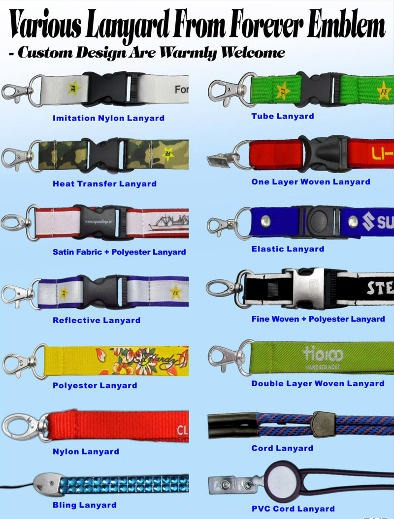Different Options of the Lanyards
