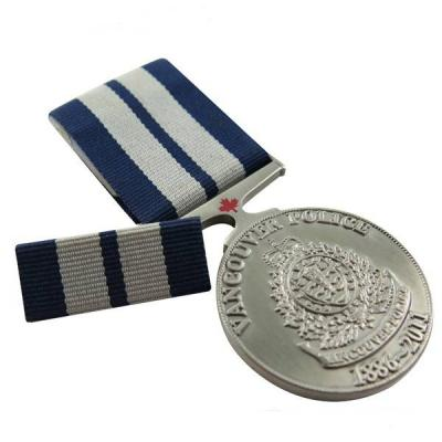 Classy Die Struck Military Medallion with Ribbon Bar