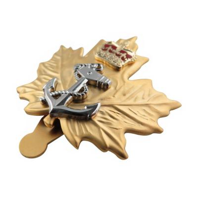 Navy Hat Pin Cap Badge With High Quality Satin Gold Plated