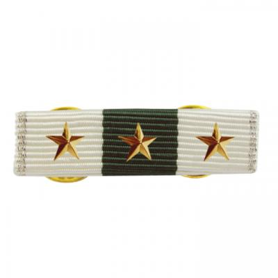 Ribbon Bars With  Metal Decorative Logo