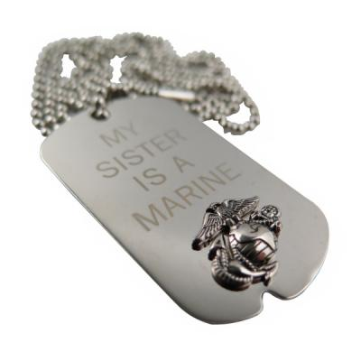 Nickel Plated Dog Tag For Marine