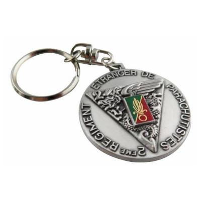 Military Quality Key Ring With Imitation Hard Enamel Coloring