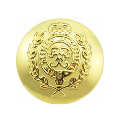 Customized 3 Sides Polished Brass Military Button