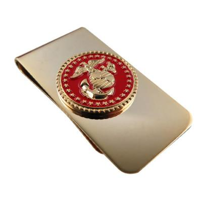 Custom Red Soft Enamel Label In 3D Design On Money Clip Parts