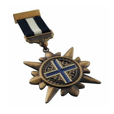 Custom Retro Style Army Medal With Ribbon