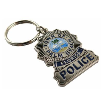 High Quality Stamped Soft Enamel Coloring Keychain for Police