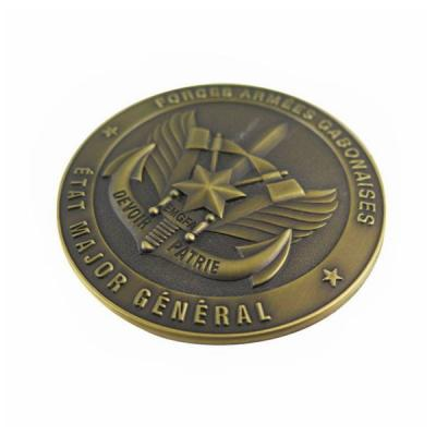 3D Design Metal Challenge Coin with Antique Bronze