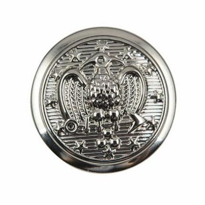 High Quality Metal Military Button With Nickel Plated