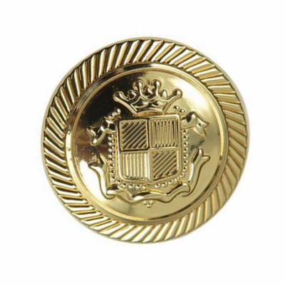 Shiny Gold Plated Bronze Material Buttons With 4 Holdes Back