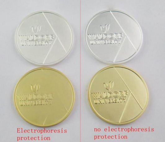 satin plated products with electrophoresis