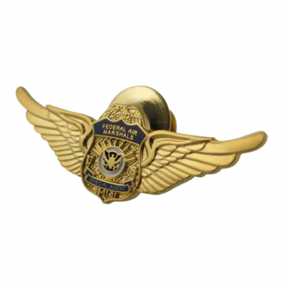 Gold Plated Imitation Hard Enamel Federal Air Marshals Badges