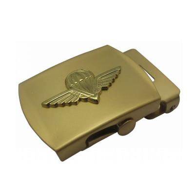 Bronze Military Box-frame Belt Buckle With 3D Logo