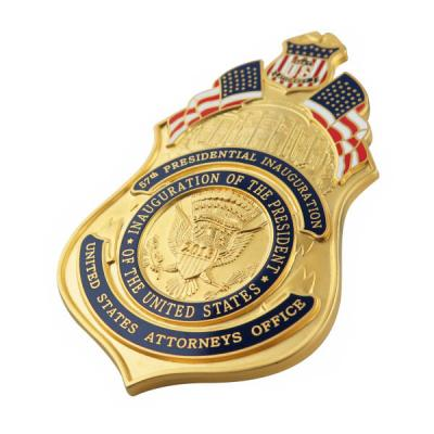Enamel US Attorney Official Badge With Embossed Eagle Logo