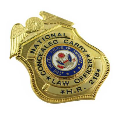 Sheild Shape Enamel US Officer Badge