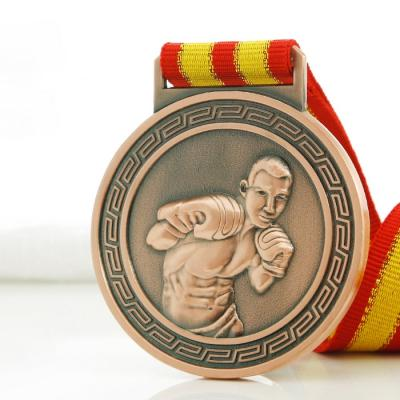 Custom Boxing Medal With Ribbon