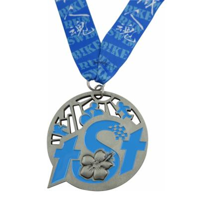 Custom Soft Enamel Finisher Medal With Ribbon