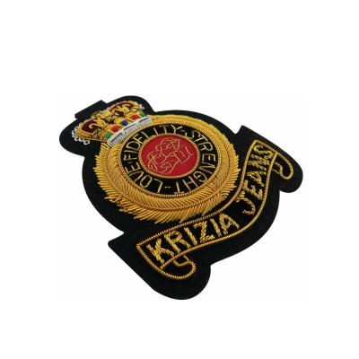 Custom Bullion Wire Badges For Military Uniform