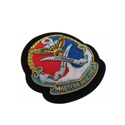 High Quality Custom Bullion Wire Iron On Badges