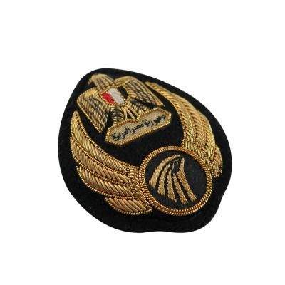 Custom Metallic Wire Bullion Badges Uniform Arm Badges