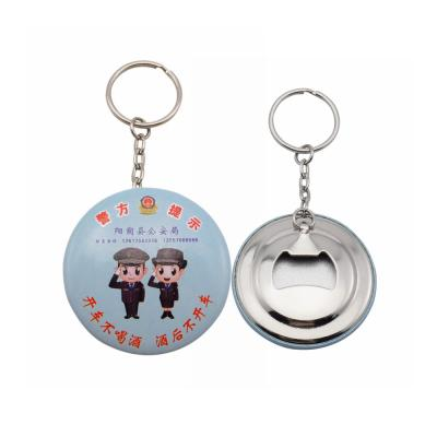 Custom Promotional Button Badge Bottle Opener Keychains