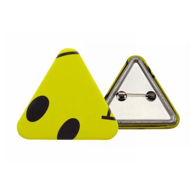Custom Triangle Shape Button Badges For Promotion