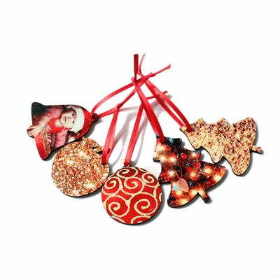Cheap Custom MDF Sublimation Christmas Ornaments For Decor