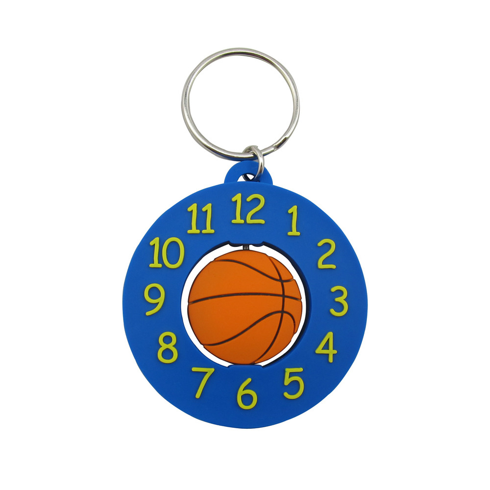 Soft PVC Basketball Keychains