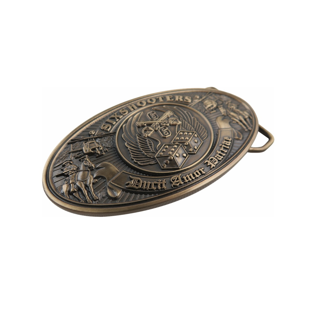 Six Shooter Belt Buckle
