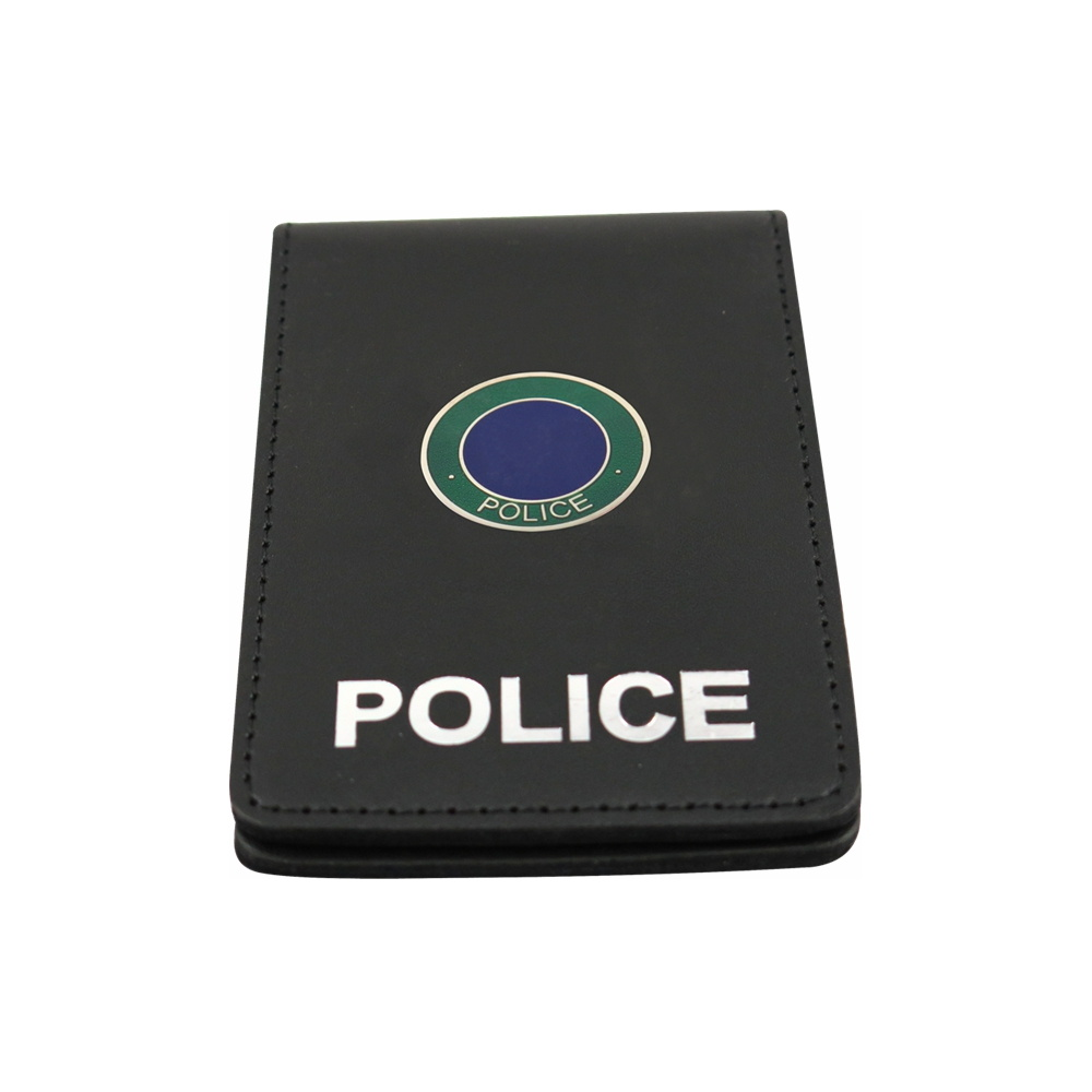 Leather Wallet With Police Badge Holder