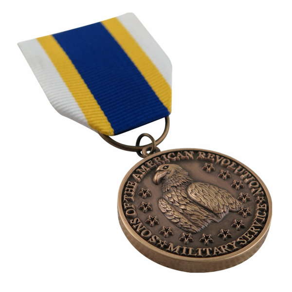 Custom The Sons Of American Revolution Military Service Medal