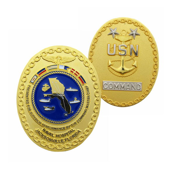 USN Chief Challenge Coins