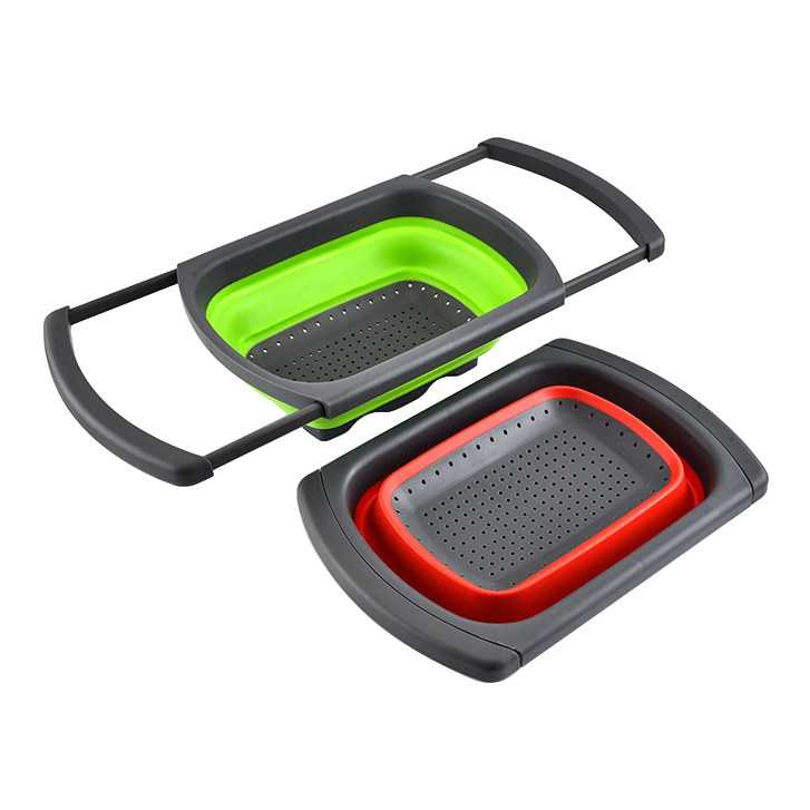 Portable Silicone Collapsible Kitchen Strainer Basket